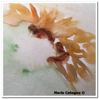 Petalo di girasole - Acquerello - studio - cm.15x21 - carta 300gr.