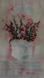 Il vaso in cielo - Acquerello - cm.30x42 - carta 300 gr.