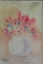 Trasparenza rosa - Acquerello - cm. 15x21 - carta 300 gr.