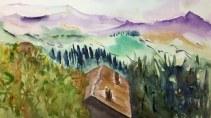 Paesaggio Alpino - Acquerello - cm.35,5x51 - carta 300 gr